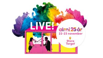 Speclo deltar i livepodd för att fira Almi företagspartners 25-årsdag på Stora Torget i Uppsala