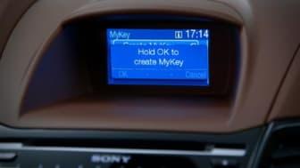 Nye Fiesta, først ut i Europa med sikkerhetsteknologien MyKey