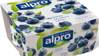 Alpro PBA alt til yoghurt blåbær 4x125 g