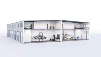 Bostadsrättslokaler för lager, verkstad, butik och produktion med mera.