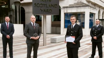 Pictured, left to right, Chief Inspector David Brewster, Detective Sergeant Robert Richards, Inspector Stuart Kohring and DeputyAssistant Commissioner Laurence Taylor, who was chief lead for Op Hampshire.