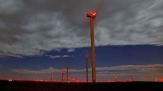 Varningsljus för vindkraftverk