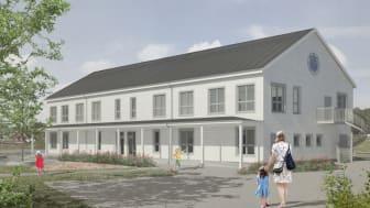 Den nya förskolan i Härryda kommun uppförs i trä och miljöcertifieras enligt Svanen