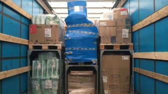 SpaceInvader-systemet er skabt til at øge fyldningsgraden i lastbilers fragtrum ved hjælp af pallestativer i varierende højder. Her både 120 og 80 cm stativer anvendt til optimering af fyldningsgraden i PostNords lastbiler.
