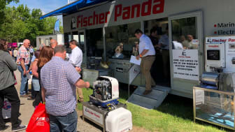 Image - Fischer Panda UK - Complete systems specialist Fischer Panda UK reported a record number of visitors to its new demo trailer at this year's Crick Boat Show