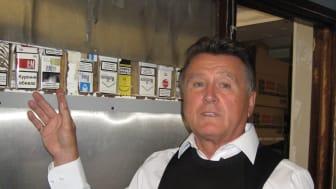 Peterborough tobocco blitz - concealment HMRC officer Bill Elliott with the haul