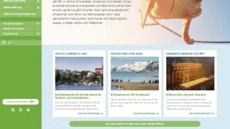 Smakprov från Värmevärdens nya hemsida.