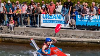Abenteuerlust gefragt: der Kanupark Markkleeberg lädt zum Pappbootrennen - Foto: Kanupark Markkleeberg