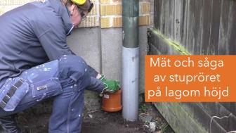 Så här kapar du stupröret för att ta hand om regnvattnet i trädgården