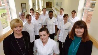 Dr Alison Machin, Associate Professor at Northumbria University, left, with Debbie Reape, Interim Executive Director of Nursing at Northumbria Healthcare NHS Trust.