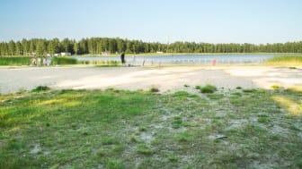 Örsholmens badplats utan brygga.