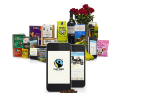 Fairtrades mobilapp med produkter