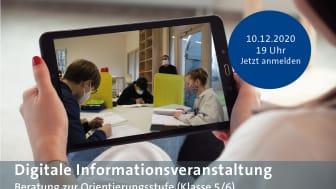 Digitale Informationsveranstaltung zur Orientierungsstufe (Klasse 5/6)