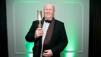 """Mike Wilson, winner of the LEO Award 2017 in the category """"Zukunftsmacher - Business Model"""""""
