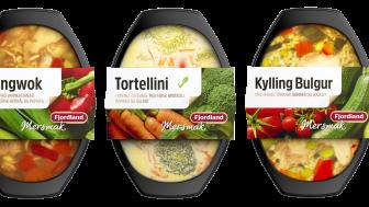 Den nye serien Mersmak lanseres i tre varianter; Kyllingwok, Tortellini og Kylling Bulgur.