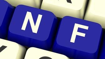 Bild som visar ett tangentbord med texten INFO markerat i blå färg