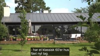 Lindab Kliktag på klassisk 60'er hus