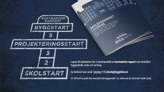 Ny färsk rapport om skolbyggandet i Sverige som du får helt utan kostnad.