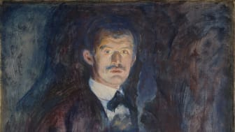 "Edvard Munch, ""Self-Portrait with Cigarette"", 1895."