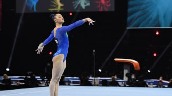 Tonya Paulsson höjde sig i EM-finalen i kvinnlig artistisk gymnastik