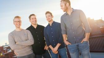 Parakeys grundare Jonas Arvidsson, Erik Barrefors, Marcus Andersson och Eric Franklin. Bild: Parakey/Chalmers Ventures/Paul Wennerholm