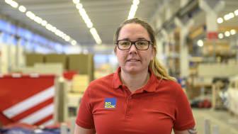 Magdalena Andersson, produktionschef i BoKloks fabrik i Gullringen.