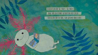 Bild: Teckning av Linda Bondestam ur boken God natt på jorden