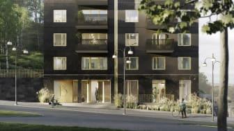 Nu har spaden satts i marken för de första 270 hyresrätterna i Kallebäcks Terrasser, Göteborg.