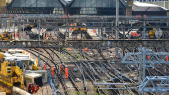 Work continues on £1.2 billion East Coast Upgrade this weekend: passengers reminded not to travel to or from London King's Cross [Picture: Network Rail]