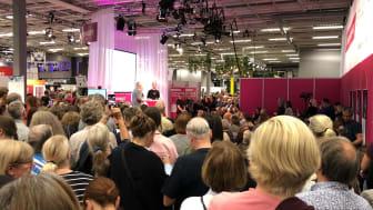 En vanlig syn på Bokmässan i Göteborg. I år sker hela evenemanget digitalt.