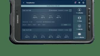 Die cargofleet Driver App lässt das Fahrzeug sprechen, hier beispielsweise die Kühlmaschine