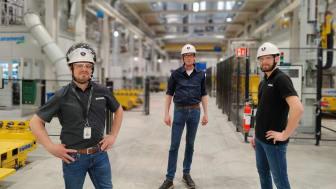 Together är ett ledord genom gjuteriprojektet. På bilden Mikael Lindén, Scania, Cees Noortman från Gemco och Anders Svensson, Scania.