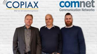 Från vänster: Leif Adolfsson Vanderbilt, Mathias Karlsson Copiax & Magnus Kjettselberg Comnet