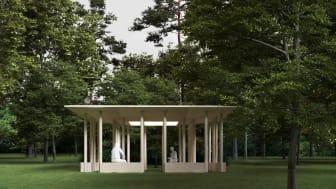 Idéskiss på kapellet Andrum, Nyréns Arkitektkontor