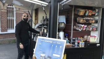 Khalil Touili of Arabica Coffee House at Lingfield railway station