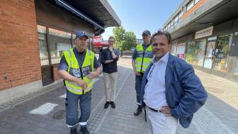 Från vänster: Ingemar Johansson, Alexander Torin, Christer Karlsson och Niklas Wikström.