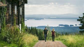Intresset för utomhusaktiviteter i Dalarna ökade under 2020, speciellt för vandring och cykling.