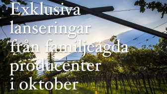 Exklusiva lanseringar från Ward Wines i oktober