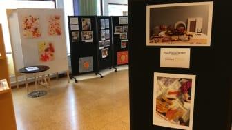 Solprojektets syfte är att ge förskolebarn en fördjupning i estetiska lärprocesser - nu visas resultaten på Lindesbergs stadsbibliotek.