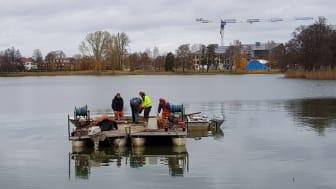 Bild från senaste reduktionsfisket i Sundstatjärnet 2019