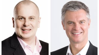 Kaj Ignatjew, Business Unit Director i Stella Safety Phone og Stefan Albertsson, CEO i AddSecure  har inngått en avtale.