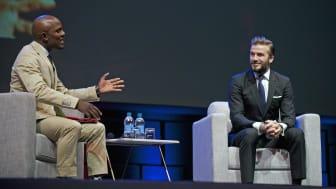 David Beckham at the Discovery Leadership Summit 2016