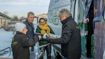FødevareBanken i Kolding har siden starten i december delt  over 10.000 kilo overskudsmad ud til organisationer for socialt udsatte.  Foto: FødevareBanken