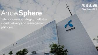 ArrowSphere är utvald som Telenor's nya strategiska plattform för molntjänster