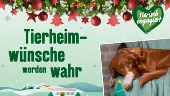 """Keine traurige Corona-Weihnachten im Tierheim: Fressnapf-Märkte laden europaweit ein zur Aktion """"Tierheimwünsche werden wahr"""""""