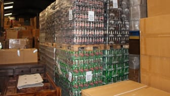 Some of the alcohol stored at the unit