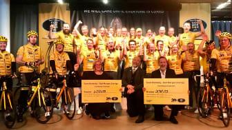 Team Rynkeby - God Morgon donerar totalt 35 miljoner kronor till Barncancerfonden & Barnhjärnfonden.