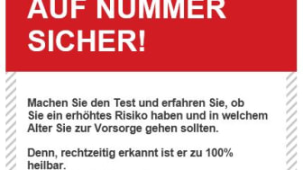 Schnell-Check Darmkrebs. Der Online-Risikotest als white-label Widget