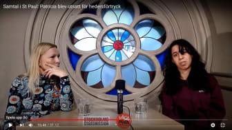 Patricia i samtal med Lou Rehnlund på Hjärnkoll Stockholm
