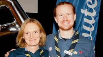 Scouternas nya ordförandepar Britta Burreau och Gustaf Haag